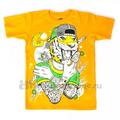 "Футболка ""Tiger Butterfly"" (yellow)"