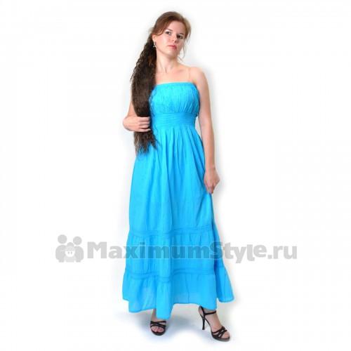 Сарафан длинный, голубой (io-blue)