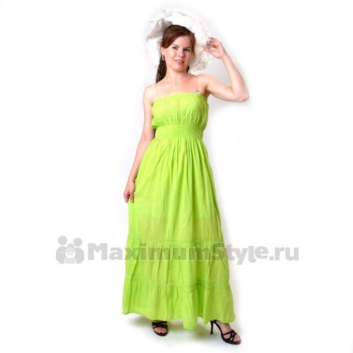 Сарафан длинный, светло-зеленый (io-green)