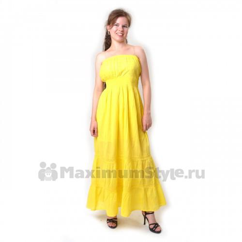 Сарафан длинный, желтый (io-yellow)