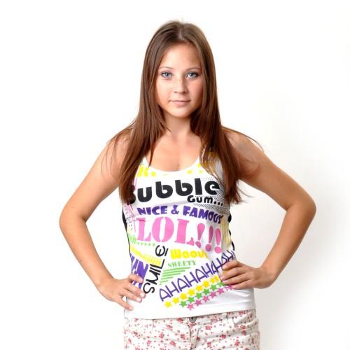 """Майка женская """"Bubble Gum"""" (white)"""