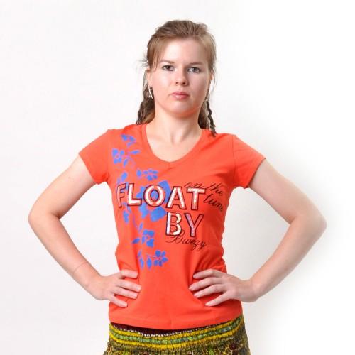 "Футболка женская ""Float By"" (orange)"