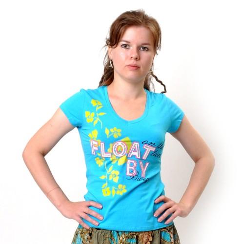 "Футболка женская ""Float By"" (blue)"
