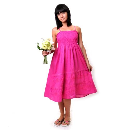 Сарафан длинный, летний (iw-pink)