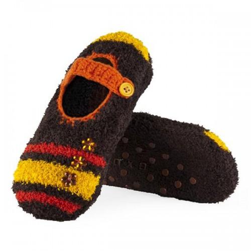 Носки-тапочки на пуговице (А)
