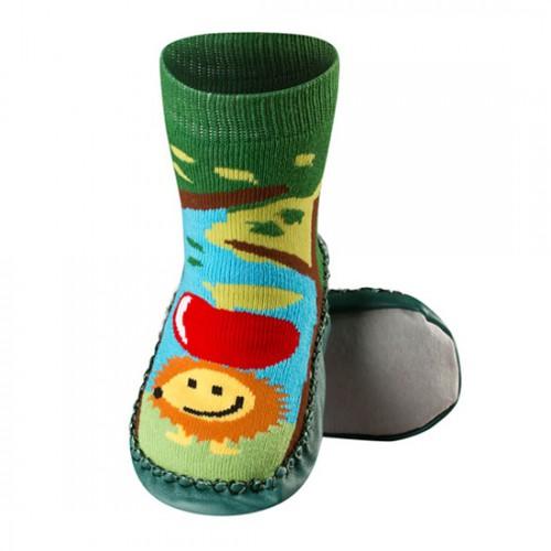 Детские носки-тапочки на коже (2)
