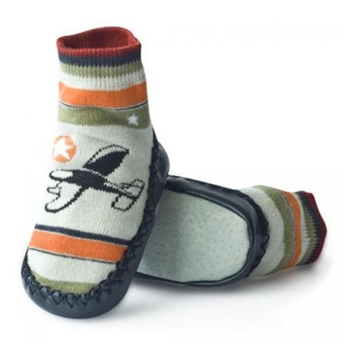 Носки-тапочки для младенцев на коже