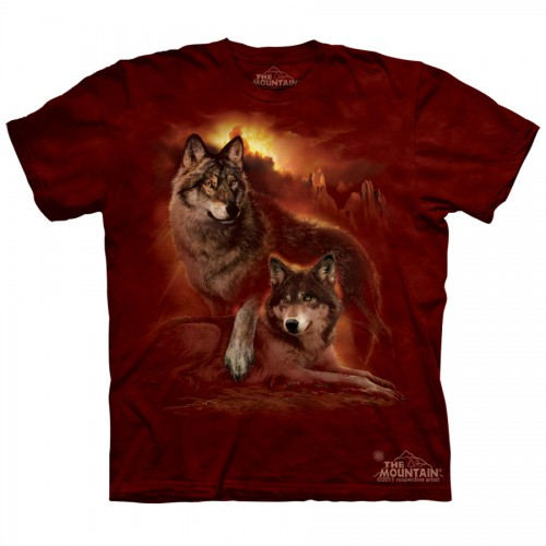 "Футболка The Mountain ""Wolf Sunset"" (детская)"