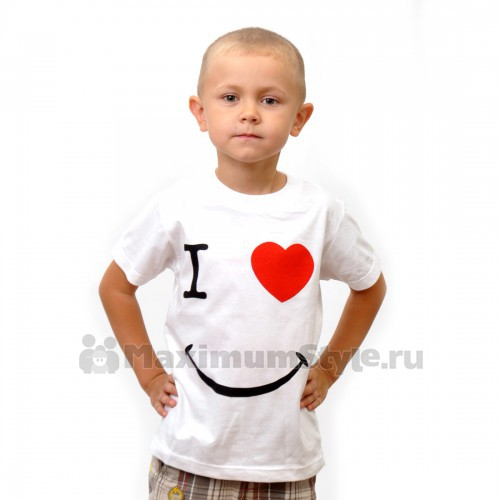 """Футболка детская """"I Love Smile"""""""