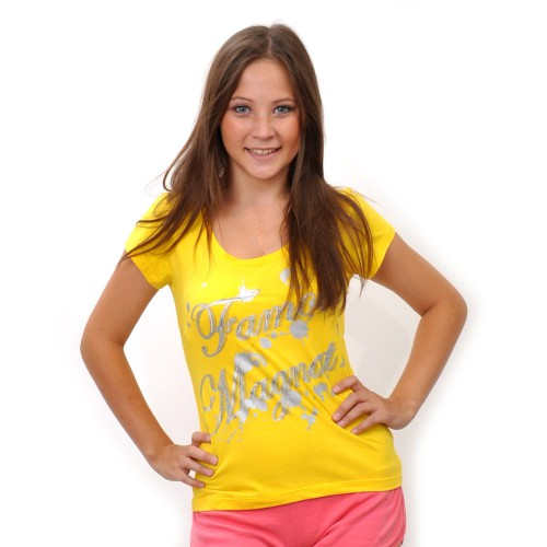 """Футболка женская """"Famous Magnat"""" -1 (yellow)"""