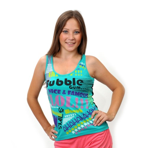 "Майка женская ""Bubble Gum"" (turquoise)"