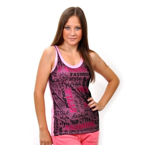 "Майка женская ""Fashion Style"" (pink)"