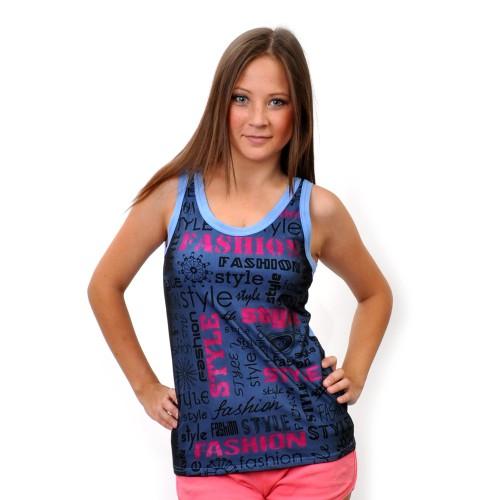 """Майка женская """"Fashion Style"""" (blue)"""