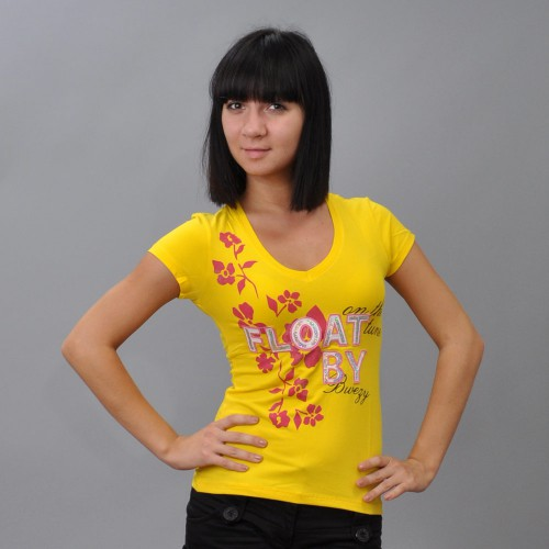 "Футболка женская ""Float By"" (yellow)"