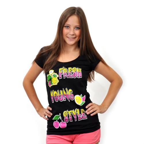 """Футболка женская """"Fresh Young Style"""" (black)"""