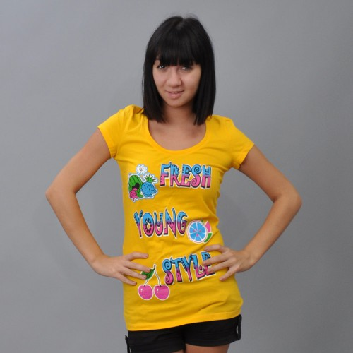 "Футболка женская ""Fresh Young Style"" (yellow)"