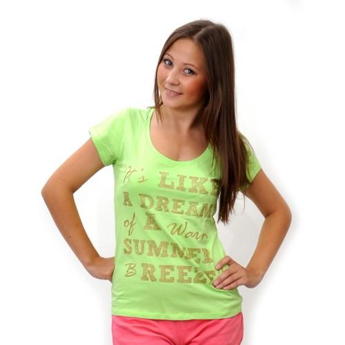 """Футболка женская """"It's Like a dream…"""" (green)"""