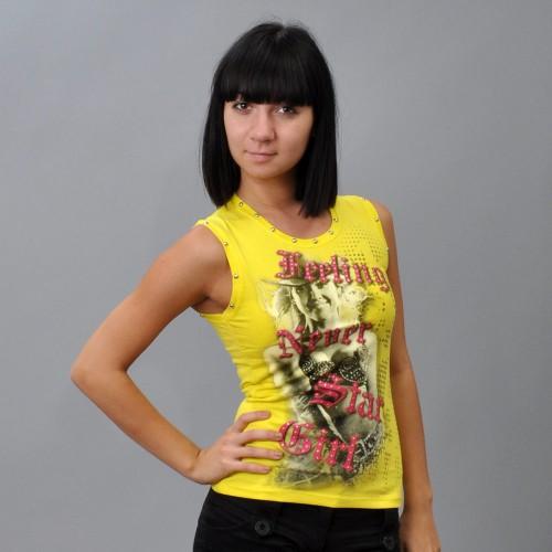 """Майка женская """"Star Girl"""" (yellow)"""