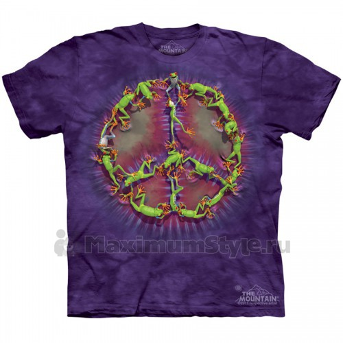 "Футболка The Mountain ""Frog Peace Dye"" (детская)"