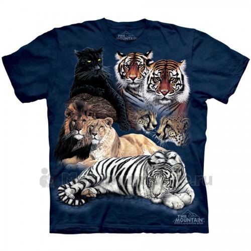 """Футболка """"Big Cat Collage"""" (США)"""