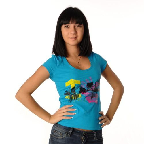 "Футболка женская ""Urban"" (blue)"