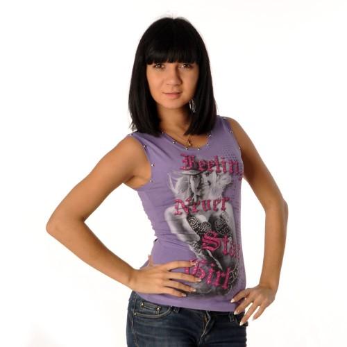 "Майка женская ""Star Girl"" (violet)"