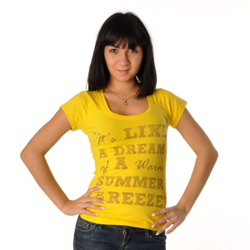 "Футболка женская ""It's Like a dream…"" (yellow)"
