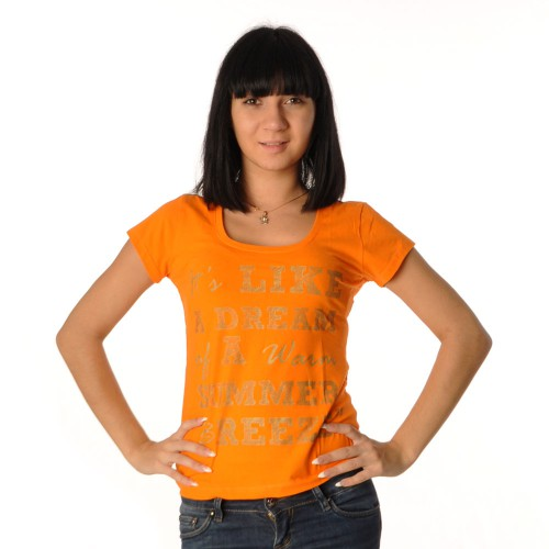 "Футболка женская ""It's Like a dream…"" (orange)"