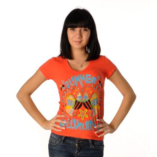 "Футболка женская ""Summer Luxury"" (carroty)"