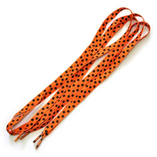 "Шнурки ""Горох на оранжевом"""