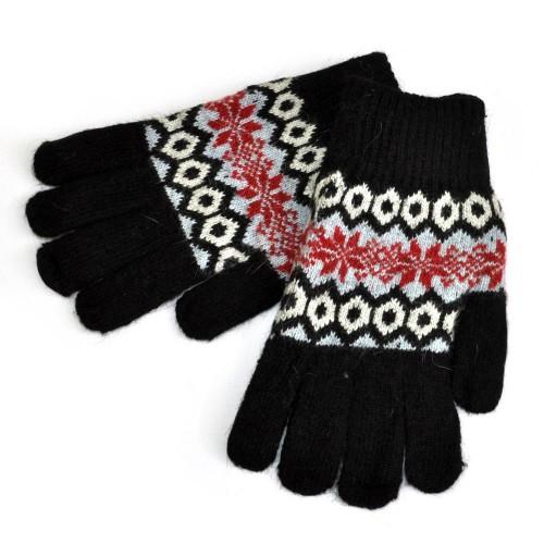 Перчатки женские с орнаментом -007