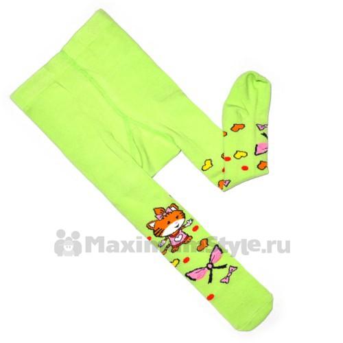 """Колготки детские, 3D  """"Тигренок"""" (green)"""