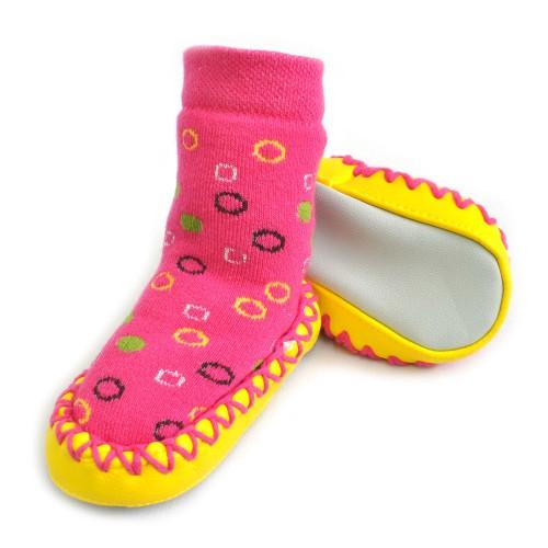 """Носки детские на подошве """"Пузырики"""" (pink)"""