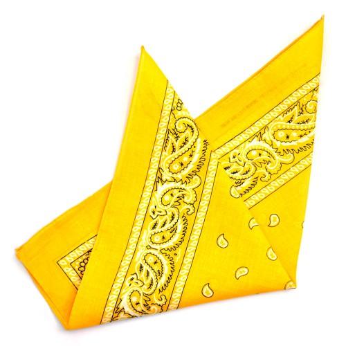 """Бандана """"Огурцы в квадрате""""-9 (yellow)"""