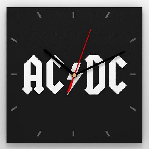 """Часы 3D настенные """"AC/DC"""""""