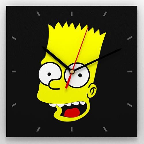 "Часы 3D настенные ""Burt Simpson"""