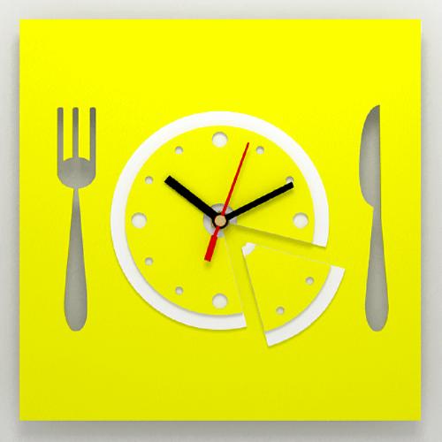 """Часы 3D настенные """"Завтрак"""""""