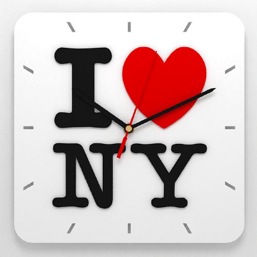 """Часы 3D настенные """"I love NY"""""""