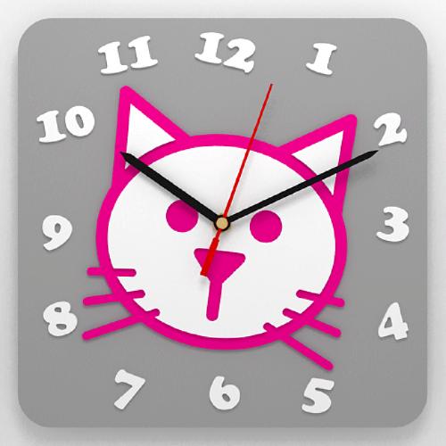 """Часы 3D настенные """"Кошка"""""""