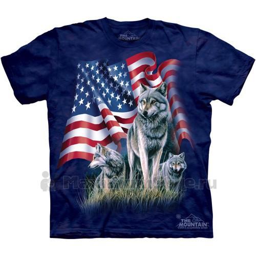 """Футболка """"Wolf Flag"""" (США)"""