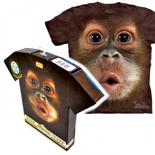 """Футболка в подарочной коробке The Mountain """"Big Face Baby Orangutan"""""""