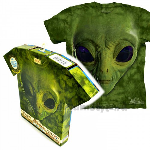 "Футболка в подарочной коробке The Mountain ""Green Alien Face"""