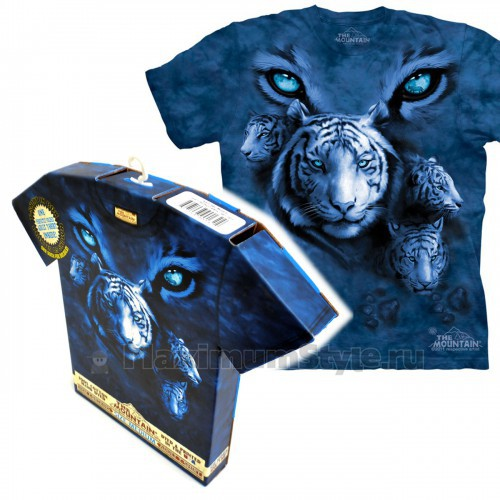 "Футболка в подарочной коробке The Mountain ""White Tiger Eyes"""