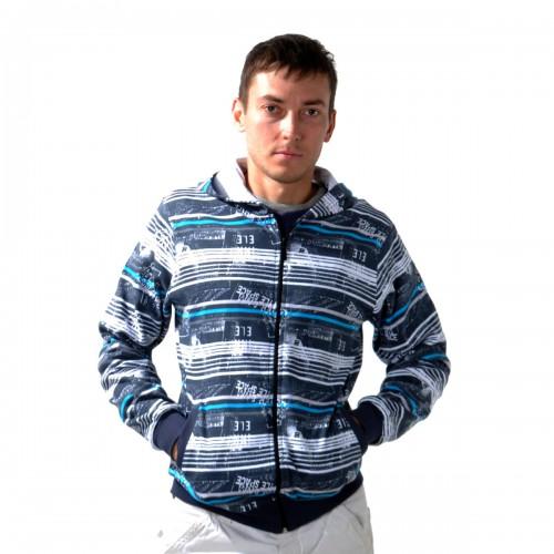 """Толстовка мужская на молнии с капюшоном """"Glacier Wear"""" -02"""