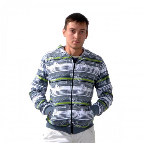 """Толстовка мужская на молнии с капюшоном """"Glacier Wear"""" -09"""