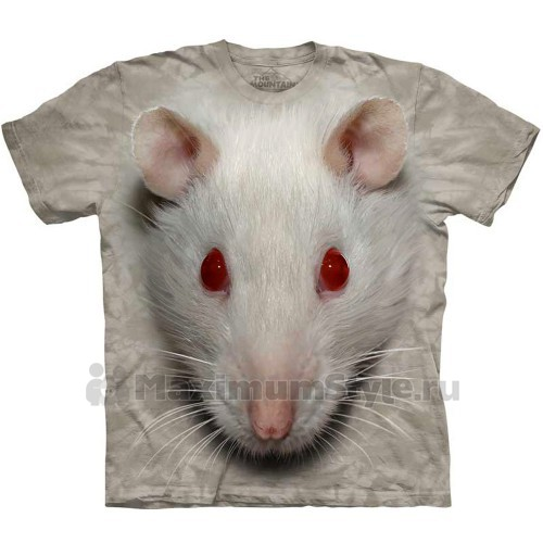 "Футболка ""Big Face White Rat"" (США)"