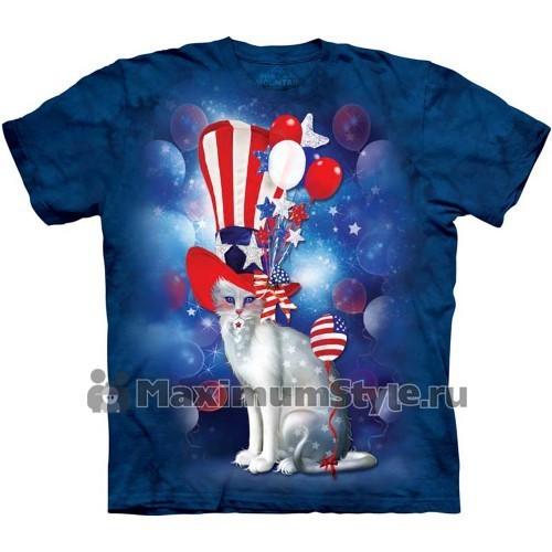"""Футболка """"Patriotic Cat Hatter"""" (США)"""