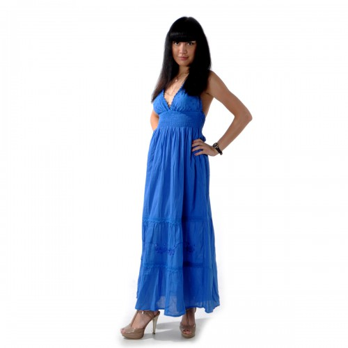 Сарафан длинный (blue) -50
