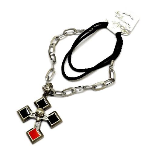 """Ожерелье """"Крест и череп"""""""