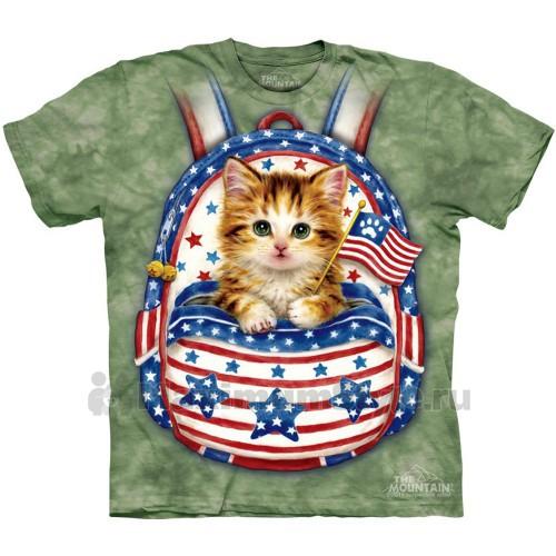 """Футболка """"Patriotic Backpack Kitten"""" (США)"""